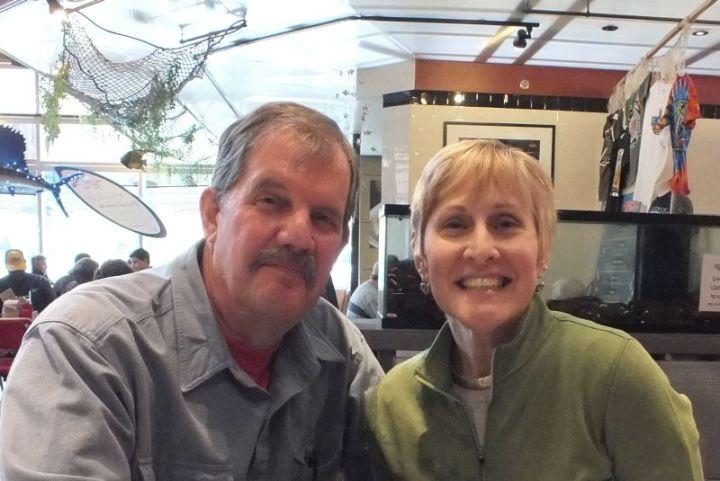 My friend Bob, and I, at The Milwaukee Public Market