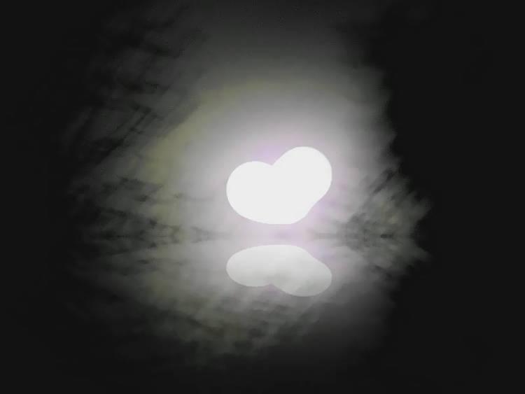 Supermoon heart